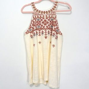 Maurices Cream Boho/ Fun/ Unique Tank Top XXL